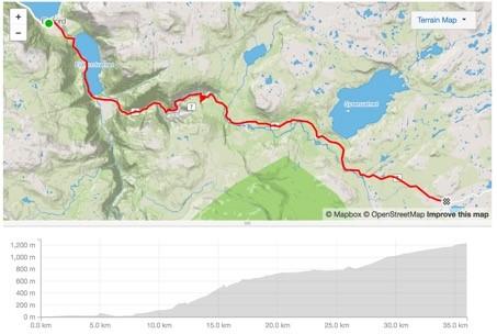 Bisikletin ilk 35km'si sürekli tırmanış, dar servis yolları ve tünellerden geçiyor. Ancak çevrenin güzelliği tüm zorlukları unutturuyor